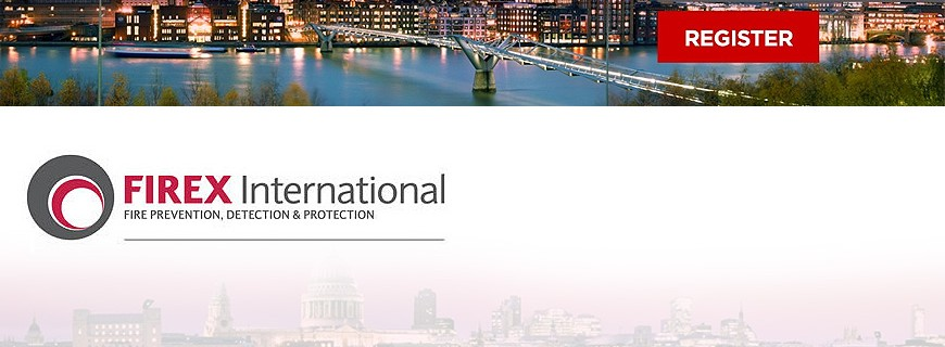 ДМТех  има удоволствието да Ви покани на най-голямото изложение в света в областта на пожарната безопасност FIREX-2014, което ще се състои от 17 до 19 Юни в Лондон, Великобритания.